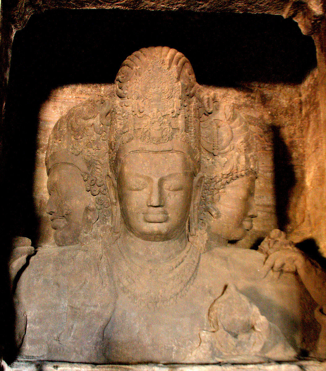 Elephanta Caves Statue